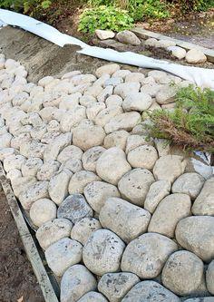 Amazingly Green Front-yard & Backyard Landscaping Ideas - All For Garden Rock Garden Plants, Terrace Garden, Landscaping With Rocks, Front Yard Landscaping, Landscaping Ideas, Patio Pergola, Sloped Garden, Garden Care, Garden Inspiration