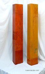 pylons - KAREN JACOBS contemporary and abstract paintings Oil Painting Abstract, Painting On Wood, Abstract Art, Pour Painting, Modern Art, Contemporary Art, Garnet And Gold, Diy Artwork, Ramadan Decorations