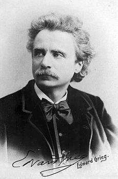 Edvard Hagerup Grieg [ˈɛdʋɑʁd ˈhɑːgəʁʉp ˈgʁɪg] (15 de junio de 1843 - 4 de septiembre de 1907) fue un pianista y compositor noruego, considerado uno de los principales representantes del romanticismo en música. La adaptación de temas y canciones del folklore noruego que Grieg realiza en sus obras, es típico de este movimiento artístico, así, además de dar a conocer la cultura de su país al mundo entero,  .