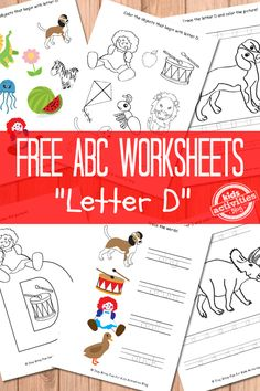 Things that start with d worksheets alphabet phonics and phonics letter d worksheets free kids printable thecheapjerseys Images