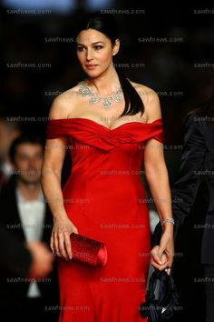 Monica Bellucci, an Italian actress and fashion model.