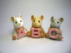 Alphabet Mice by QuernusCrafts, via Flickr