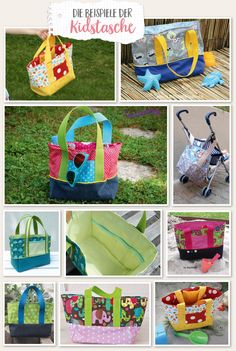 Lybstes KidBag FREEBOOK, Kindergartentasche sew yourself, Girl's bag in . Knitting Accessories, Baby Accessories, Bicycle Bag, Crochet Instructions, Make A Case, Jute Bags, Girls Bags, Diy Box, Free Sewing