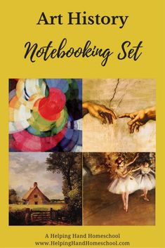Download your 20-page set of Art History Notebooking Pages from www.helpinghandhomeschool.com! #arthistory #notebooking #homeschool #art