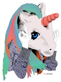 Illustration Friday | La Belette Rose Illustrations, Illustration Art, Unicorn Shirt, Art Inspo, My Little Pony, Madness, Horses, Fantasy, Lifestyle