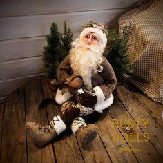 Santa Claus Doll - Art Doll - Doll - Father Christmas - Christmas Art Doll - Christmas Decor - Winter Decor - Polymer Clay Art - Christmas - by RustyDolls on Etsy Father Christmas, Christmas Art, Christmas Wreaths, Christmas Decorations, Holiday Decor, Polymer Clay Art, Art Dolls, Santa, Etsy