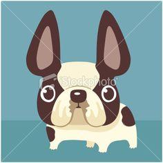 French Bulldog Royalty Free Stock Vector Art Illustration