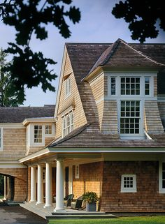 PFW--Boston-design/ shingle style/ great roof line over porch