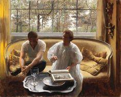 Conversation, by John Koch (American, 1909 – 1978)