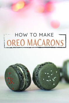 I basically begged Rach to make these Oreo macarons for Glitter, Inc. (I mean, how perfect are Oreo macarons for Halloween? And just wait until you see how she decorated them!)