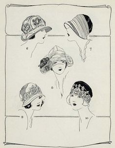 MILLINERY HOW TO MAKE 1920s VINTAGE HATS Scroll thru many hats....