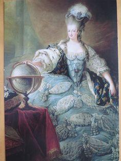 Marie Antoinette en grand habit de cour