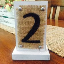 Wedding Table Numbers - Wedding Decorations - Page 23