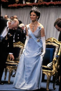 Prom Girl Dresses, Court Dresses, Royal Dresses, Queen Fashion, Royal Fashion, Queen Of Sweden, Gala Gowns, Prix Nobel, Swedish Royalty
