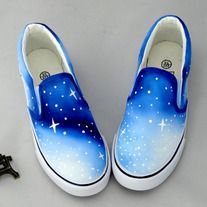 kawaii shoes cute ombre galaxy shoesSole Material: tendonClosed way: set of feetPattern: hand-paintedStyle: sweetUpper: CanvasPattern: hand-painted