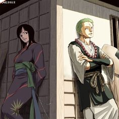 Zoro and Robin