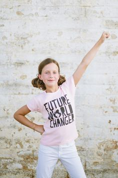 Girl's Future World Changer Tee - Perfect for Kate!