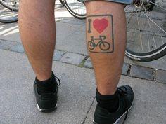 I heart bikes tattoo
