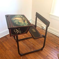 """Late-18th century school desk with faux painting from the 1970s. In excellent condition. Great for writing on or even for working with your laptop. Works as expected, has a lift top desk and a hole for inkwell. Dimensions: 32""""L x 24""""W x 33""""H. Asking $495"""