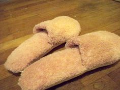 DIY Slippers - How to Recycle Old Towels
