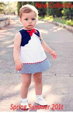 Vestido de bebé niña sin mangas blanco Dolce Petit