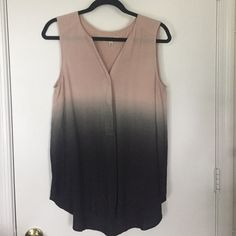 Ya Los Angeles top Dip dyed Ya Los Angeles top. Pale pink into grey into black. Buttons halfway down. Brand new, never worn. Size large. Ya Los Angeles Tops