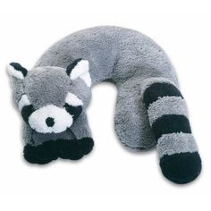 Raccoon travel neck pillow