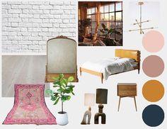 "Cierra Warness on Instagram: ""Concept board • funky New York loft •  #interiordesign #conceptboard #colorstory #designby_cece"" New York Loft, Concept Board, Color Stories, Floor Chair, Flooring, Interior Design, Furniture, Instagram, Home Decor"