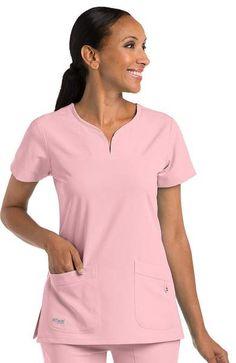 Signature by Grey's Anatomy™ Women's Notch Neck Solid Top - 2121 Cheap Scrubs, Cute Scrubs, Salon Wear, Stylish Scrubs, Scrubs Uniform, Greys Anatomy Scrubs, Medical Uniforms, Medical Scrubs, Nursing Clothes