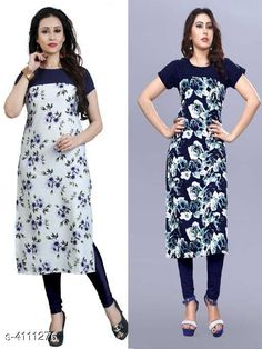 Kurtis & Kurtas Women Floral Printed Crepe Kurti Fabric: Crepe Sleeve Length: Short Sleeves Pattern: Printed Combo of: Combo of 2 Sizes: S (Bust Size: 36 in Size Length: 46 in)  XL (Bust Size: 42 in Size Length: 46 in)  L (Bust Size: 40 in Size Length: 46 in)  M (Bust Size: 38 in Size Length: 46 in)  XXL (Bust Size: 44 in Size Length: 46 in) Country of Origin: India Sizes Available: S, M, L, XL, XXL, XXXL, 4XL, 5XL, 6XL   Catalog Rating: ★4 (495)  Catalog Name: Women's Crepe Printed Kurti Combo of 2 CatalogID_584875 C74-SC1001 Code: 763-4111276-009