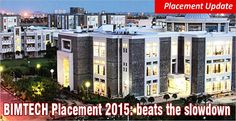 """Beating the slowdown in placement offers, the placement season 2015 at BIMTECH saw a 10% rise in highest & Average salary"""