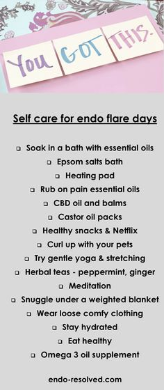 Having an #endometriosis flare can be very distressing - read tips from other endometriosis sufferers how they manage their flare days Severe Endometriosis, Castor Oil Packs, Endocrine Disruptors, Love My Body, Diet Books, Abdominal Pain, Self Help, Self Care, The Balm