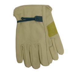 Blue Hawk Large Unisex Leather Palm Work Gloves