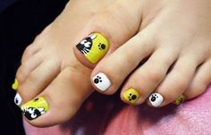 Diseños para uñas de los pies, diseño para uñas delos pies lindos.  Únete al CLUB, síguenos! #decoraciondeuñas #decoratednails #uñassencillas