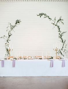 candles and backdrop -- where will we put the head table