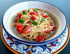 Pasta With Creamy Vodka Sauce & Cherry Tomatoes from Italian Food Forever