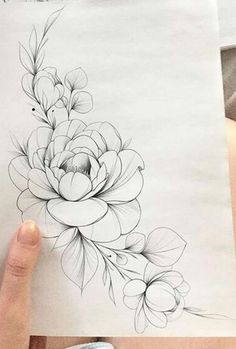 Untitled - Untitled The Effective Pictures We Offer You About tattoo arm A quality picture can tell you many - Realistic Flower Drawing, Peony Drawing, Simple Flower Drawing, Beautiful Flower Drawings, Floral Drawing, Drawing Flowers, Painting Flowers, Peony Flower Tattoos, Flower Tattoo Drawings