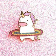 2/14/2018 10:31am unicorn hula hoop rainbow pin