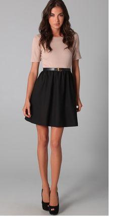 love this shirt-dress combo
