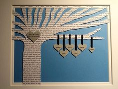 Unique, Custom and Personalized Family Tree with Poem 3D Paper Tree - Fathers Day - Customized and FRAMED