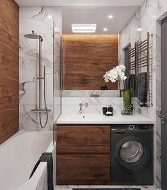 Kleines Loft in Behance - Loft Bedroom Loft Bathroom, Wooden Bathroom, Bathroom Layout, Dream Bathrooms, Bathroom Ideas, Bathroom Vanities, Bathroom Renovations, Decorating Bathrooms, Diy Bathroom