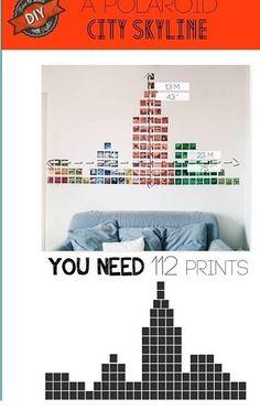 New York Skyline done in Polaroids