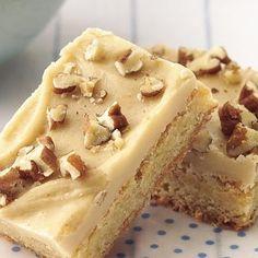 Blonde Brownies with Brown Sugar Frosting