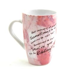 God answers all prayer Mug