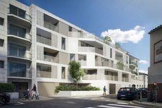PRET-A-PORTER 26 LOGEMENTS COLLECTIFS ASNIERES Social Housing, Facade Architecture, Ground Floor, Habitats, Pret, Multi Story Building, House, Inspiration, Images