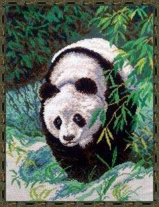 "Мои работы: вышивка ""Панда"" (Матренин посад)"