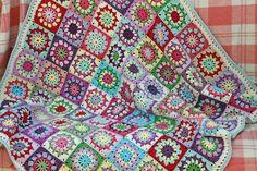 Интуиция патч: вязание крючком Одеяла