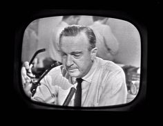 """""""From Dallas, Texas, the flash - apparently official - President Kennedy died,"""" CBS newsman Walter Cronkite told America. His emotional confirmation of Kennedy's death has became an unforgettable TV image."""