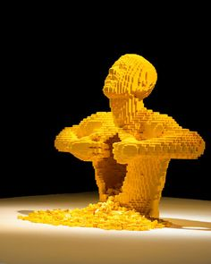 """A man ripping open his torso"". (Photo by Nathan Sawaya/The Art of the Brick)"
