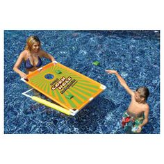 The Swimline Corn Hole Pool Game is a great pool game but can be used as a lawn game, too!
